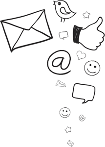 Symbole Social Media