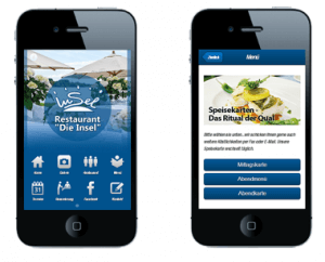 Mobile Websites für Restaurants