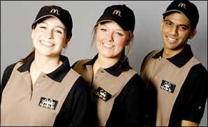 mcdonalds Einheitskleidung