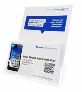 Firmen-App Visitenkarten-Aufsteller