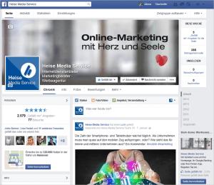 Beispiel einer Facebook Unternehmensseite