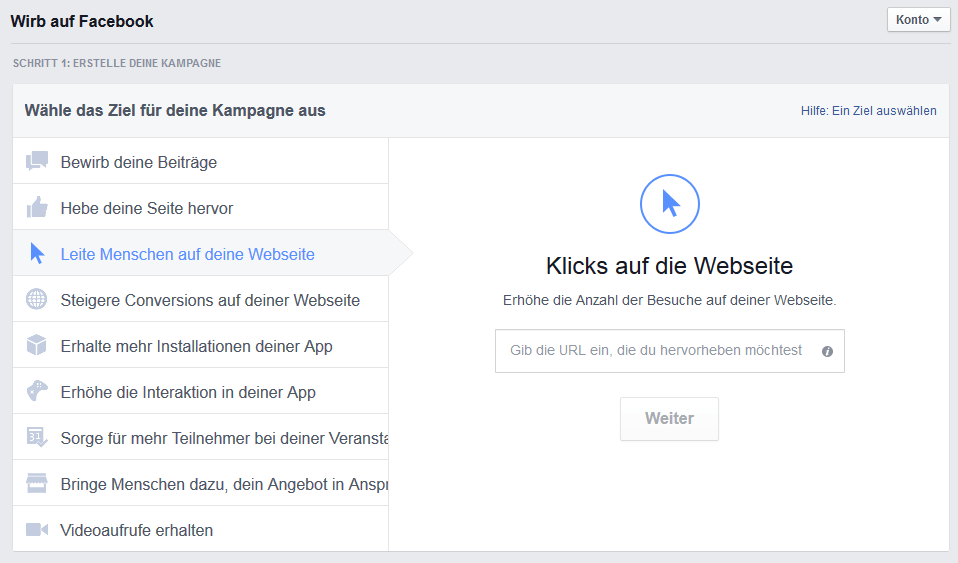 Werben Facebook