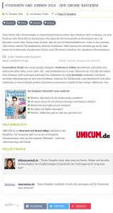 "Landingpage ""Studieren und Jobben 2014"" (Quelle: http://www.fernstudium-direkt.de/tipps-ratgeber/studieren-jobben-2014-grosse-ratgeber)"