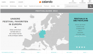 Zalando Festival Guide (Quelle: www.zalando.de/festival-guide)