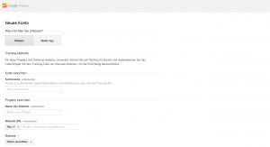 Google Analytics Konto erstellen