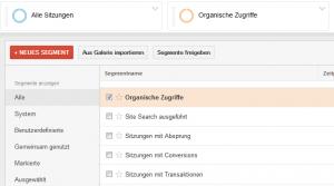 Google Analytics Organische Zugriffe