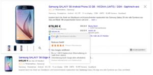 Beispiel Google Zertifizierter Händler