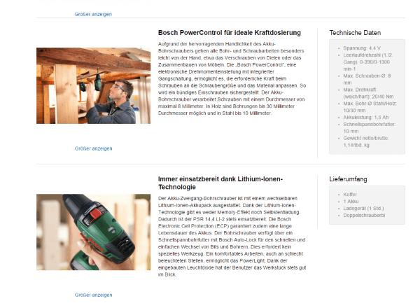 Beispiel einer guten Produktbeschreibung auf www.amazon.de