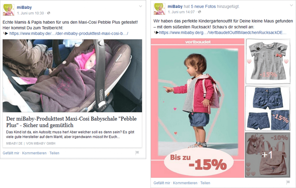 Facebook Marketing Beispielposting