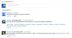 YouTube Kommentare