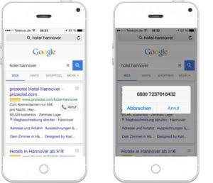 Google AdWords für Mobilgeräte erstellen_Anruferweiterung-Heise-Regioconcept