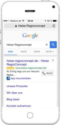 Google AdWords für Mobilgeräte erstellen_App-Erweiterung-Heise-Regioconcept
