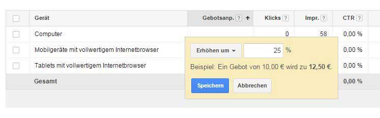 Google AdWords für Mobilgeräte erstellen_Gebotsanpassung_Mobilgeräte-Heise-Regioconcept