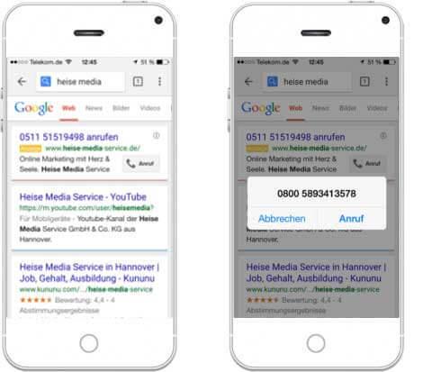 Google AdWords für Mobilgeräte erstellen_Nur-Anruf-Kampagnen-Heise-Regioconcept