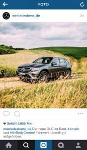 Instagram Beispiel Mercedes