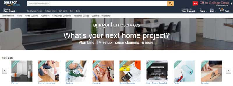 Amazon Home Service_Website