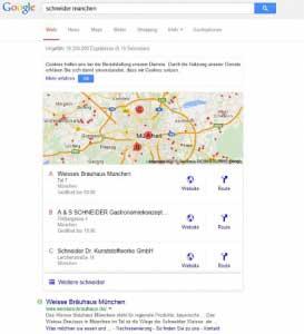 Neues Local Pack von Google