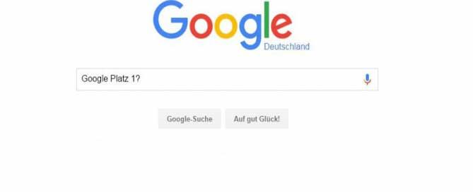 Google-Suche Platzierung