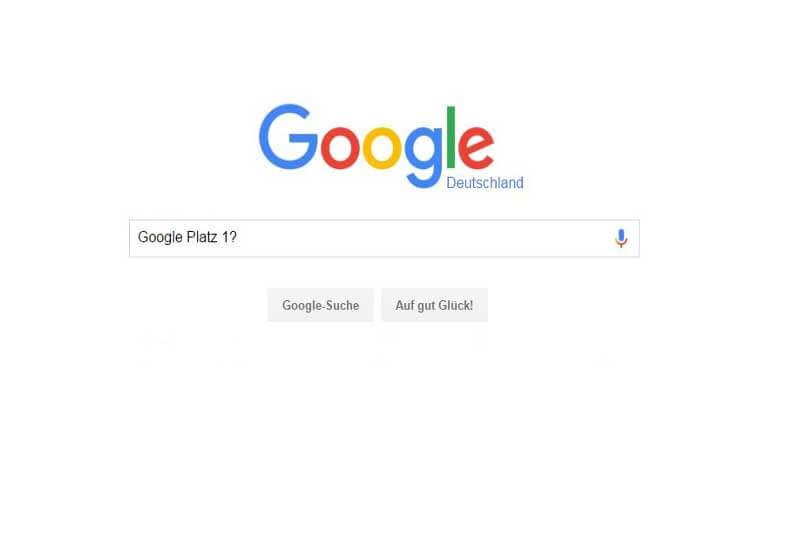 Google Platzierung