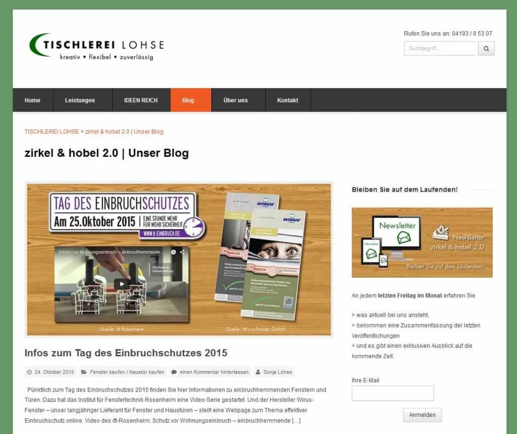 Screenshot_Tischlerei_Lohse