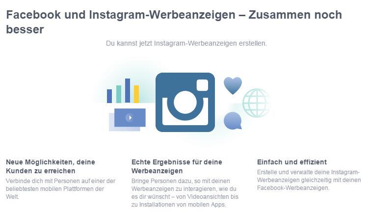 Werbeanzeigen auf Facebook und Instagram Vorteile