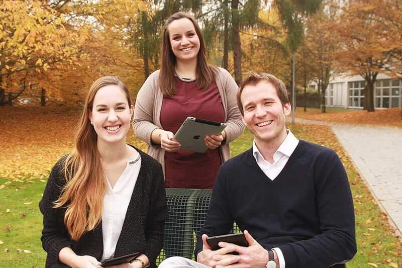 Corinna Dulle, Alexa Domachowski und Finn Hassold (v.l.)