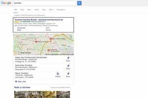 Google AdWords Suchergebnis