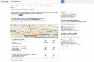 Google Lokale Suche Beispiel