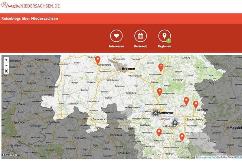 Screenshot meinniedersachsen.de