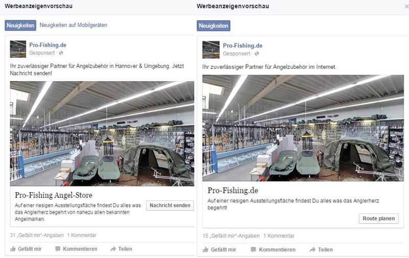 Facebook Werbung regional