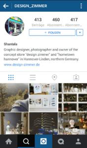 """Die Eigentümerin des Concept Stores """"Design Zimmer"""" (www. design-zimmer.de) in Hannover postet regelmäßig neue Produkte und private Einblicke in ihrem Instagram-Feed."""