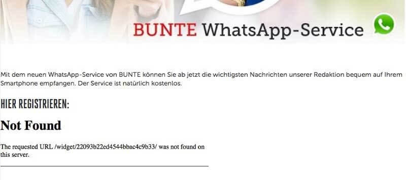 Bunte-WhatsApp