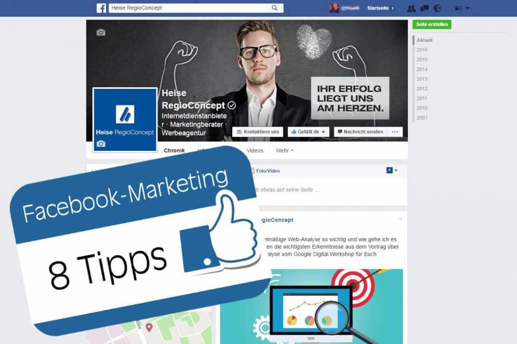 Facebook Marketing Tipps