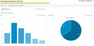 Google Analytics gibt Ihnen demografische Daten Ihrer Nutzer aus.
