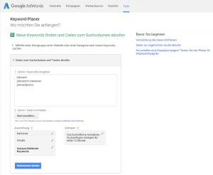 Keywordrecherche mit dem Google AdWords Keyword-Planner