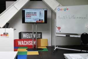 Digital Workshop von Google im Transformationswerk in Hannover.