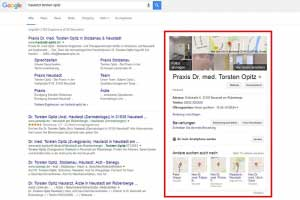 Google My Business Google Suche