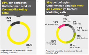 Quelle: Content-Marketing-Studie 2014/2015 von Namics (S. 6 und 9).