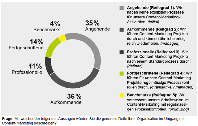 Namics Studienergebnisse Content-Marketing Reife