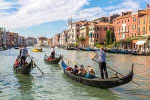 Gondola on Canal Grande in Venice