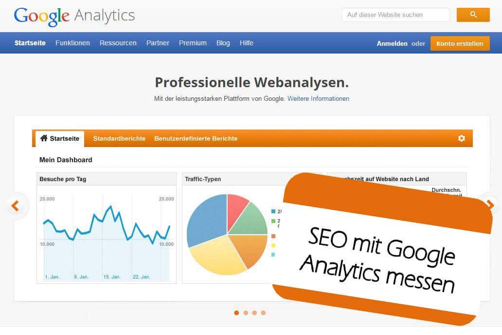 SEO mit Google Analytics messen