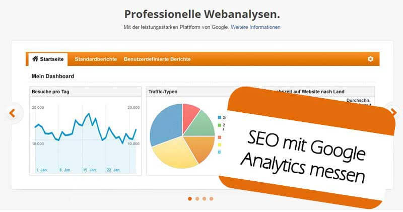 SEO mit Google Analytics messen