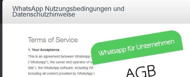 WhatsApp für Unternehmen - Rechtsfragen