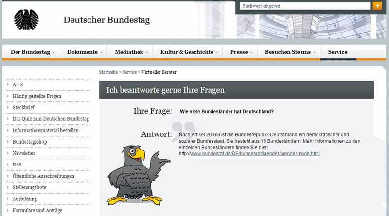 Chatbot Deutscher Bundestag