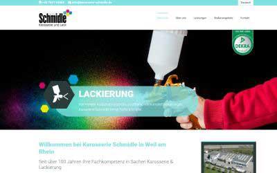 Homepage erstellen lassen Karosserie Schmidle