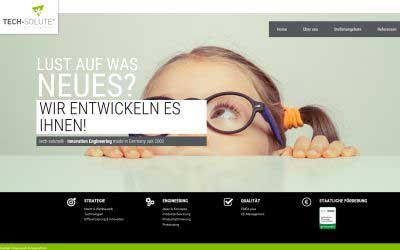 Homepage erstellen lassen Tech Solute