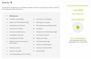 Bildunterschrift: Zielgruppe für Xing-Werbung definieren.