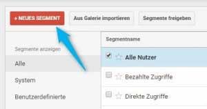 """Abbildung 8: ... """"Neues Segment"""" klicken ..."""