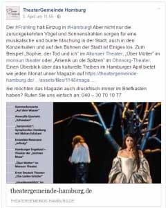 Theater Gemeinde Hamburg Facebook Post