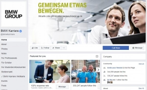 Screenshot Social Media Recruiting BMW Group Quelle Facebook